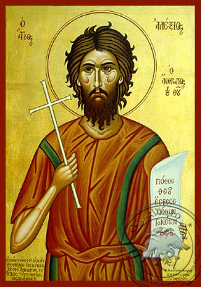 Saint Alexios, Man of God - Hand-Painted Icon