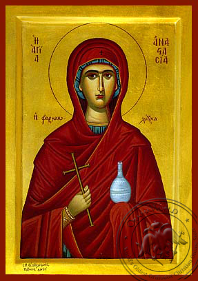 Saint Anastasia the Great Martyr, Deliverer from Bonds - Hand Painted Icon
