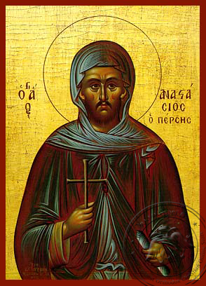 Saint Anastasius Monk-Martyr, the Persian - Hand Painted Icon