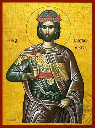 Saint Anastasios of Persia - Hand-Painted Icon