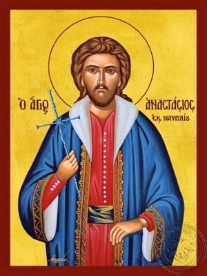 Saint Anastassios of Nafplio Greece Newmartyr - Hand Painted Icon