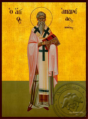 Saint Andrew, Archbishop of Crete, Full Body - Hand Painted Icon