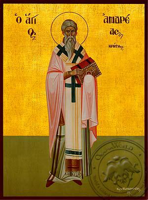 Saint Andrew, Archbishop of Crete, Full Body - Hand Painted Icon