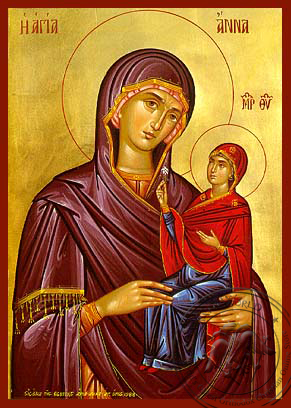 Saint Anne the Mother of Theotokou - Hand-Painted Icon
