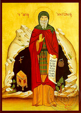 Saint Anthony the Great, Full Body - Hand Painted Icon