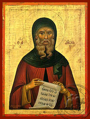 Saint Anthony the Great - Hand Painted Icon
