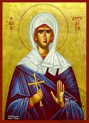 Saint Afrodite - Hand-Painted Icon