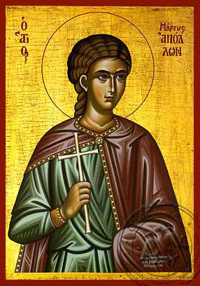 Saint Apollo - Hand-Painted Icon