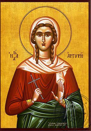 Saint Argyra, Neomartyr, of Prusa - Hand Painted Icon