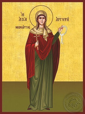 Saint Argyre of Proussa Neomartyr at Constantinople Full Body - Hand Painted Icon