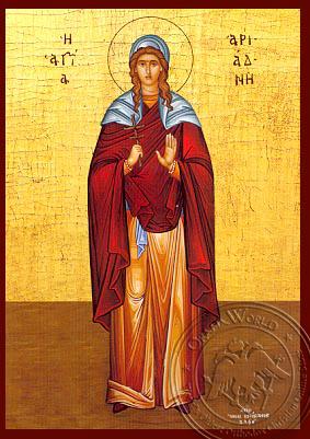 Saint Ariadne Full Figure - Hand-Painted Icon
