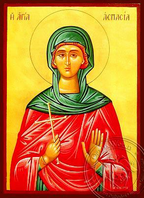 Saint Aspasia - Hand-Painted Icon