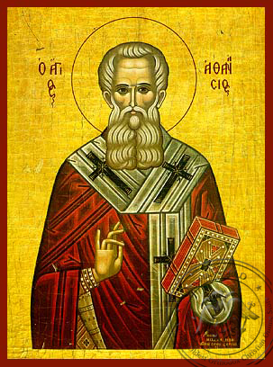 Saint Athanasius the Great, Patriarch of Alexandria - Hand Painted Icon