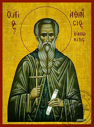 Saint Athanasius of Mount Athos - Hand Painted Icon