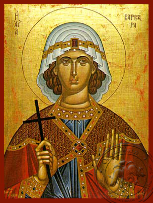 Saint Barbara, the Great Martyr - Hand Painted Icon