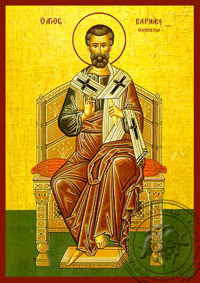 Saint Barnabas the Apostle, Enthroned - Hand Painted Icon