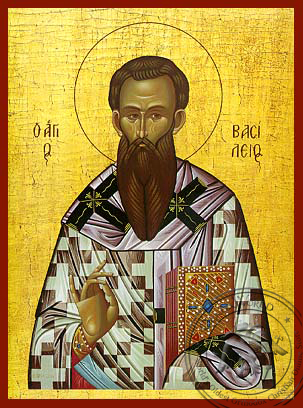 Saint Basil the Great, Archbishop of Caesarea, Cappadocea - Hand Painted Icon