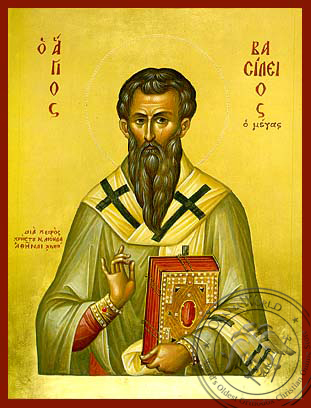 Saint Basil the Great - Hand-Painted Icon