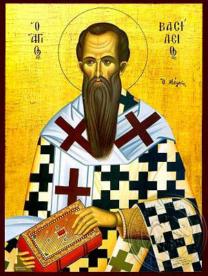 Saint Basil the Great, Archbishop of Caesarea, Cappadocia - Hand Painted Icon