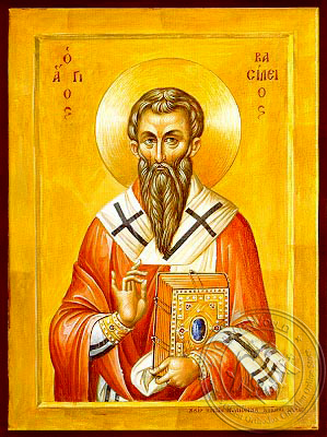 Saint Basil the Great, Archbishop of Caesarea, Cappadocia - Hand Painted Icon