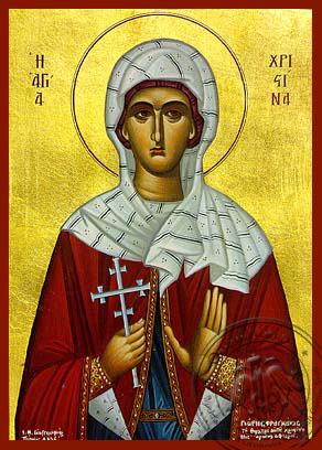 Saint Christina, the Great Martyr, of Tyre - Hand Painted Icon
