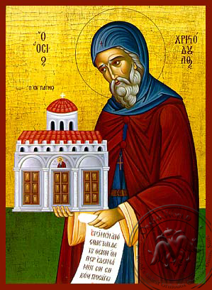 Saint Christodoulos of Patmos - Hand Painted Icon