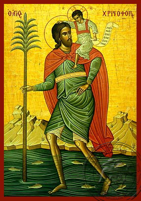 Saint Christopher - Hand-Painted Icon