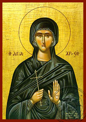 Saint Chryse - Hand-Painted Icon