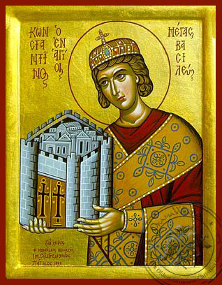Saint Constantine the Great - Hand Painted Icon