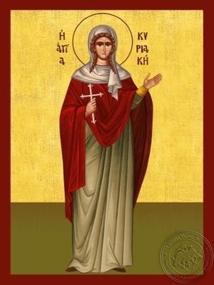 Saint Cyriaca Martyr Full Body - Hand Painted Icon