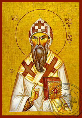 Saint Cyril of Alexandria - Hand-Painted Icon