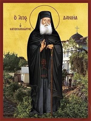 Saint Daniel Katounakiotes the Hagiographer Full Body - Hand Painted Icon