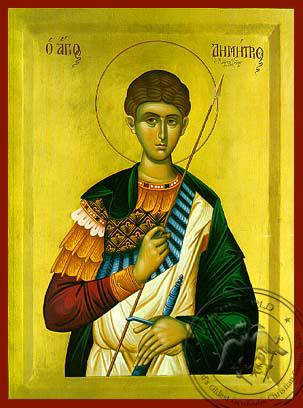 Saint Demetrius the Myrrh-Gusher, Half - Hand Painted Icon