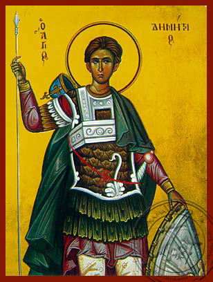 Saint Demetrius the Myrrh-Gusher - Hand Painted Icon