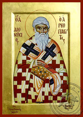 Saint Dionysius the Areopagite - Hand-Painted Icon