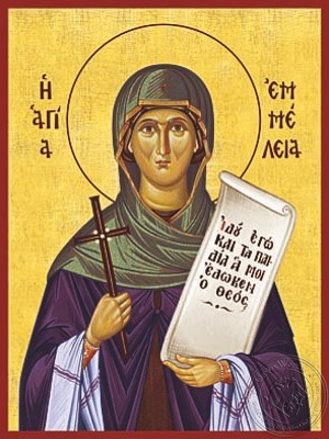 Saint Emmelia Mother of Saint Basil the Great - Hand Painted Icon