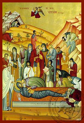 Saint Ephraim the Syrian, Repose - Hand Painted Icon