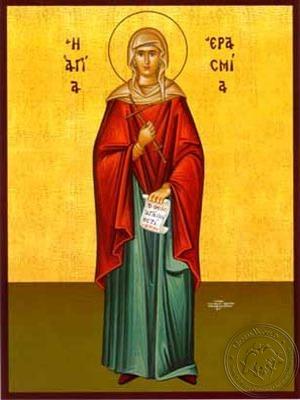 Saint Erasmia Martyr Full Body - Hand Painted Icon