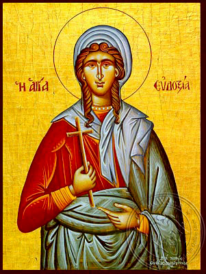 Saint Eudoxia, Martyr, at Canopus in Egypt - Hand Painted Icon