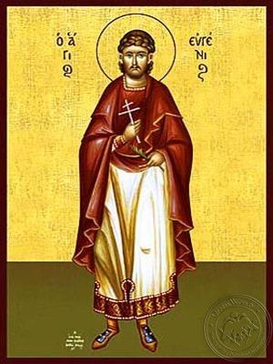 Saint Eugene Martyr at Sebaste Full Body - Hand Painted Icon