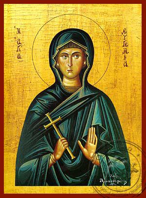 Saint Eugenia - Hand-Painted Icon