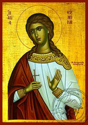 Saint Eunike - Hand-Painted Icon