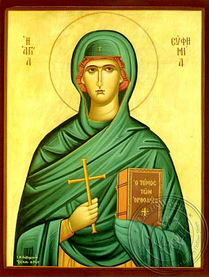 Saint Euphemia, the Great Martyr - Hand Painted Icon