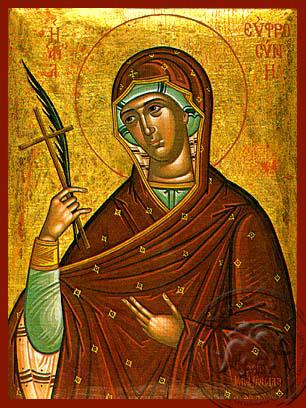 Saint Euphrosyne of Alexandria - Hand-Painted Icon