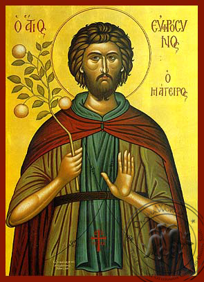 Saint Euphrosynos the Cooker - Hand-Painted Icon