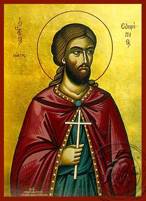 Saint Euprepios - Hand-Painted Icon