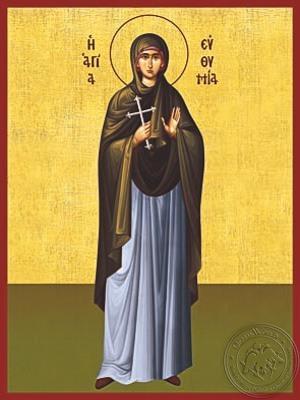 Saint Euthymia Martyr Full Body - Hand Painted Icon