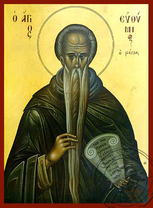 Saint Euthymius, the Great - Hand Painted Icon