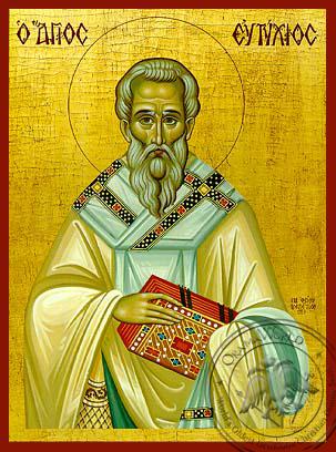 Saint Eftixios - Hand-Painted Icon