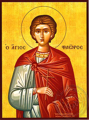 Saint Florus of Illyria, Martyr - Hand Painted Icon